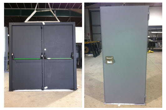 Tipos de puertas ac sticas de madera marco abierto cerrado - Tipos de puertas de madera ...